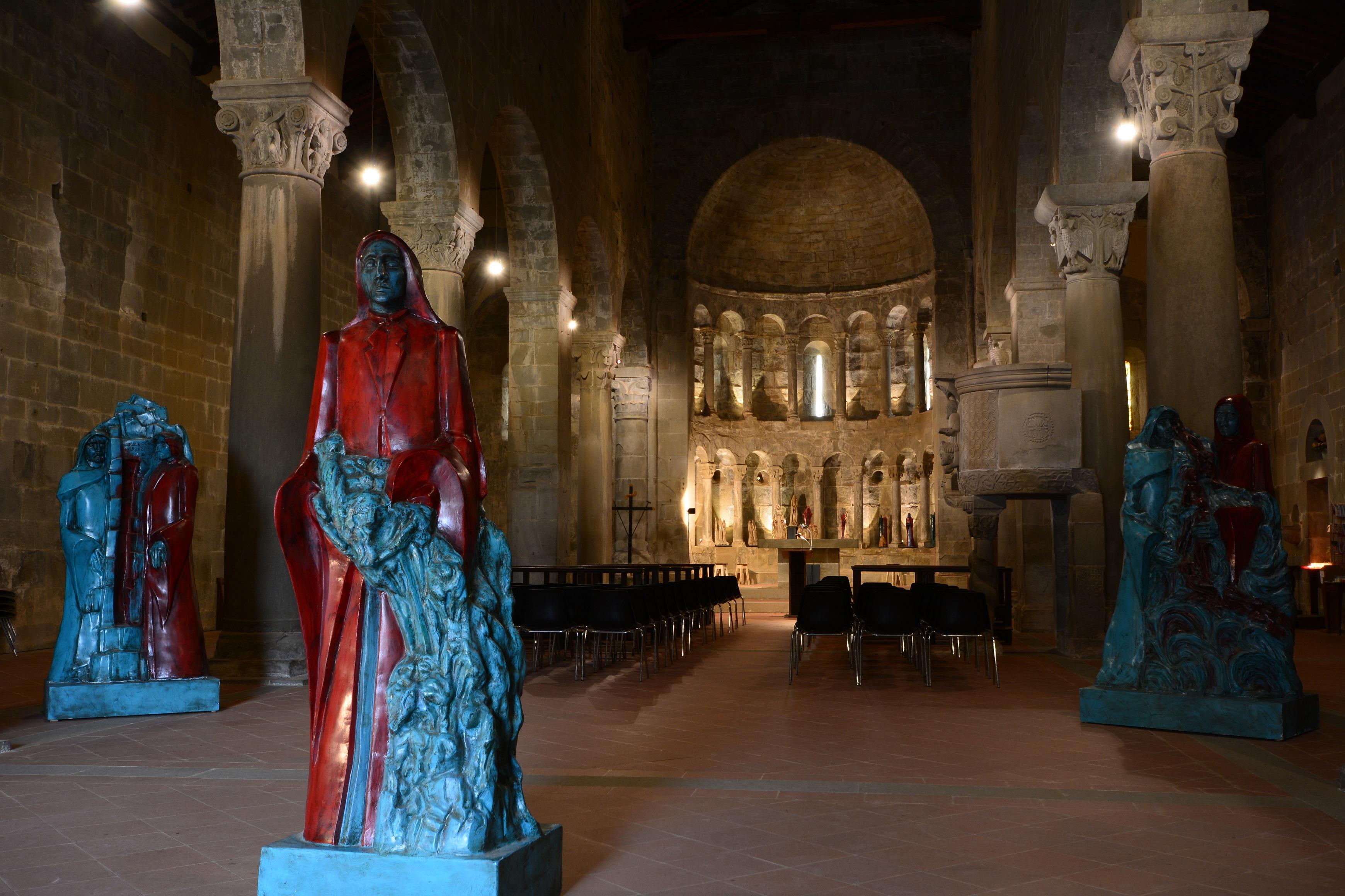 pieve di Gropina - mostra opere Divina Commedia - Romano Dini - 25 ottobre 2015